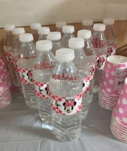 aguas personalizadas minnie mouse